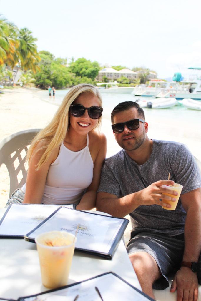 Beach Bar drinks St. John USVI