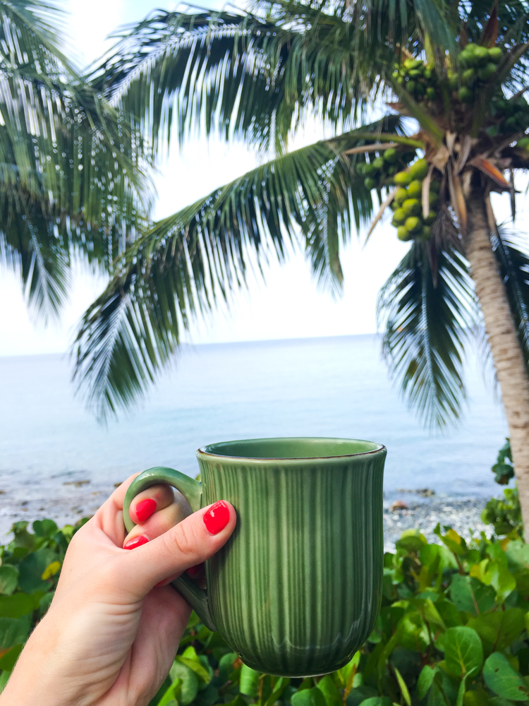 morning coffee on St. John, USVI