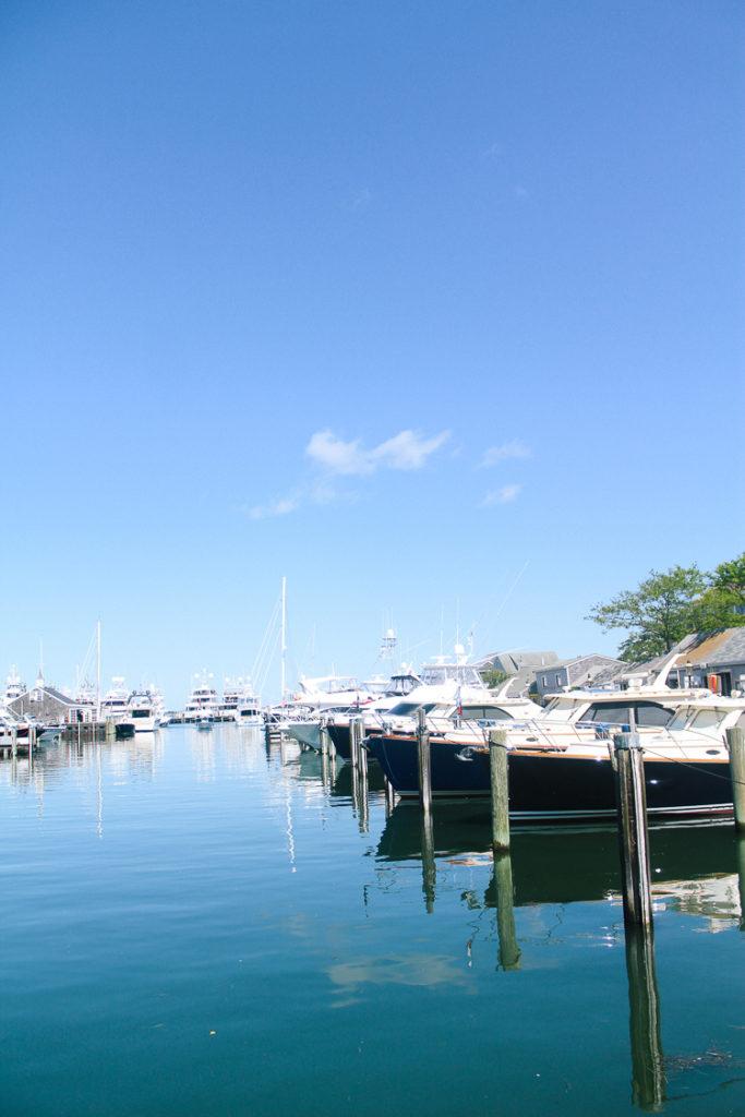 yachts in Nantucket harbor