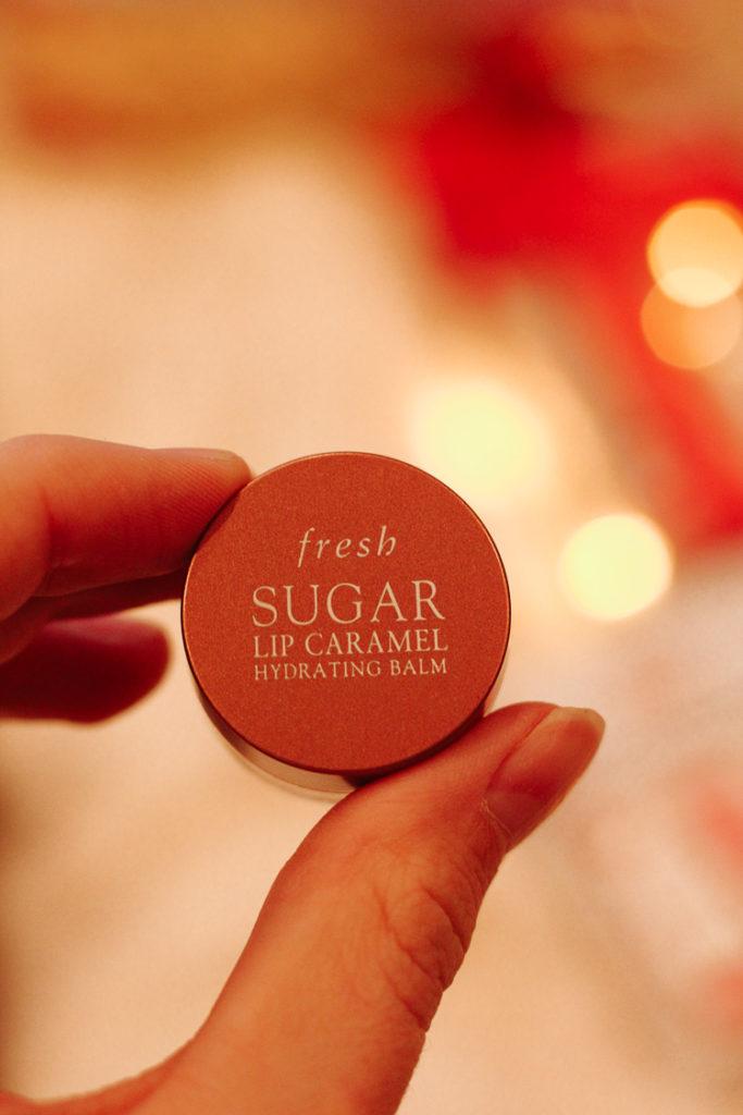 fresh beauty holiday gift ideas; sugar lip caramel
