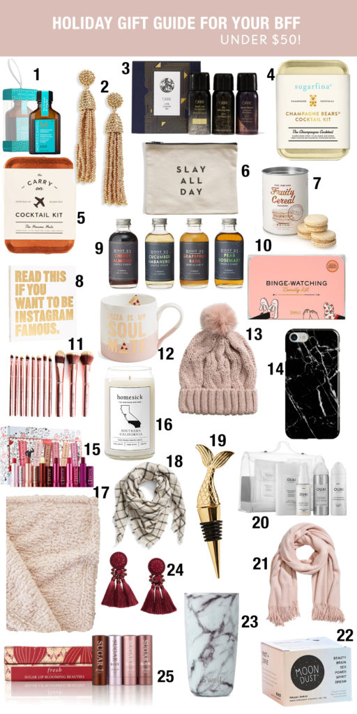 holiday gift guide for your BFF under $50